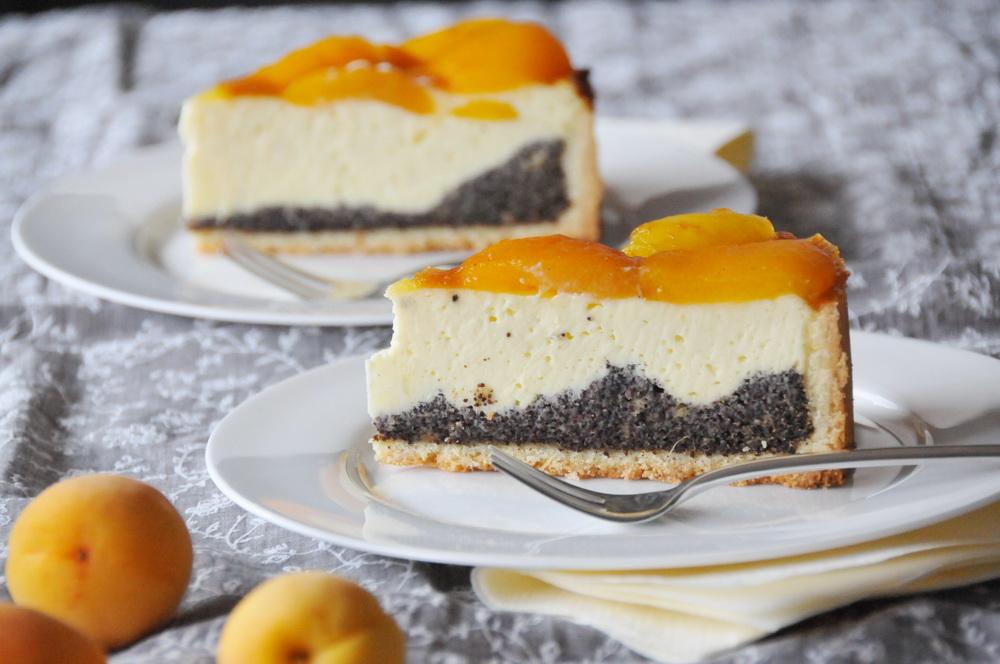 Von Allem Ein Bisschen Oder Ricotta Kuchen Mit Aprikosen Und Mohn