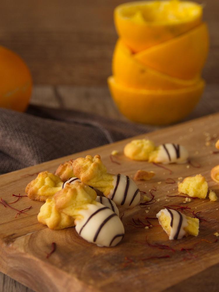 Safran-Orangen-Spritzgebäck