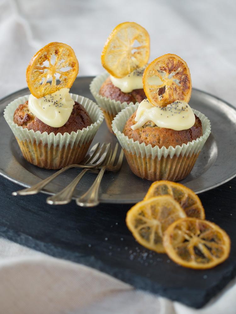 Mohn-Zitronen-Muffins