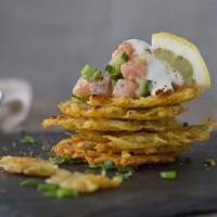 Lachs-Tatar mit Ofenrösti