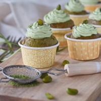 Matcha-Pistazien-Cupcakes