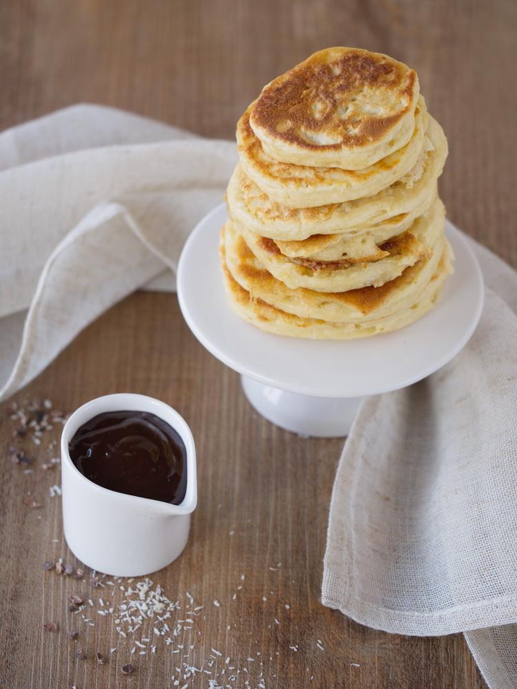 Pancakes mit Kokos und Schokolade
