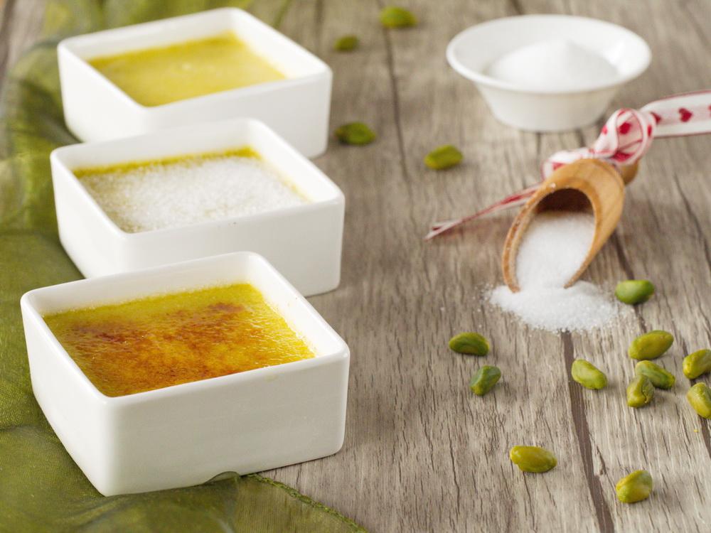 Pistazien-Crème Brûlée