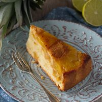 Gestürzter Ananas-Kuchen