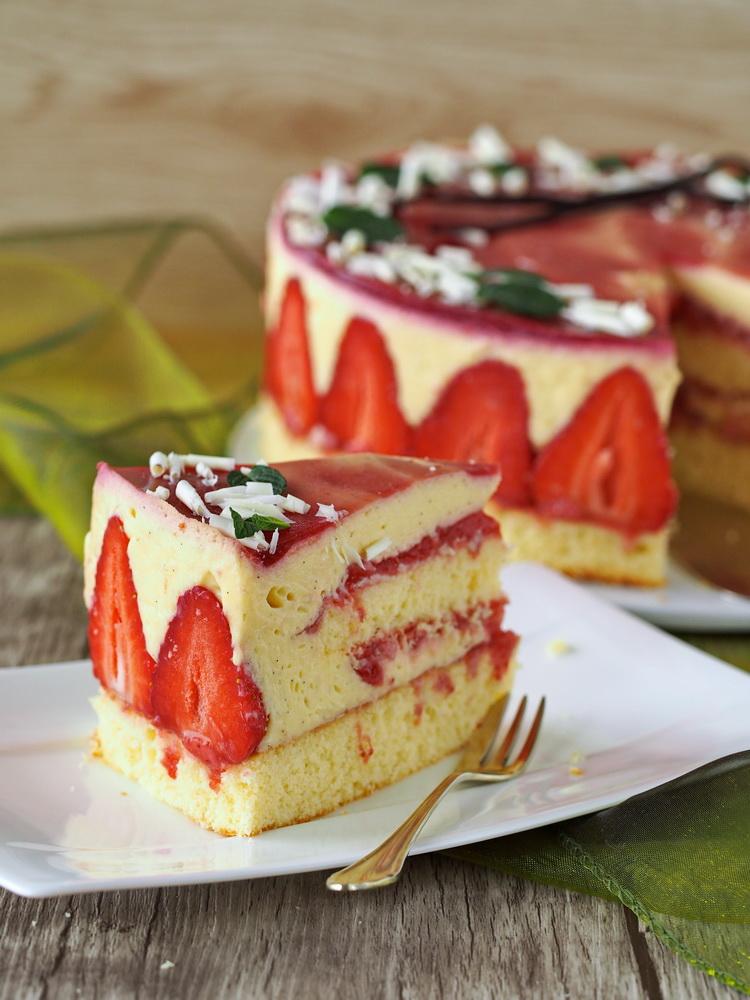 Erdbeer-Vanille-Torte