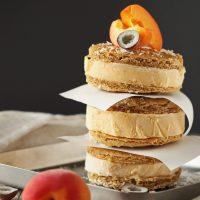 Aprikosen-Eis mit Kokos-Cookie