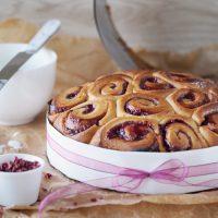 Himbeer-Rosen-Kuchen