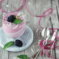 Brombeer-Mousse