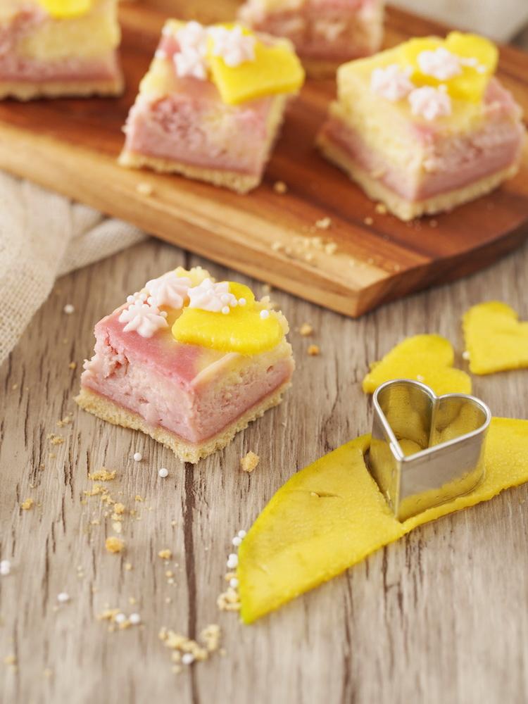 Mango-Himbeer-Cheesecake
