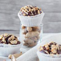 Schokoladen-Erdnuss-Muffins