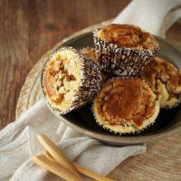 Kürbis-Muffins mit Cheesecake-Swirl