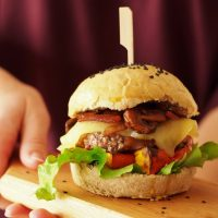 Burger-Buns mit Guiness