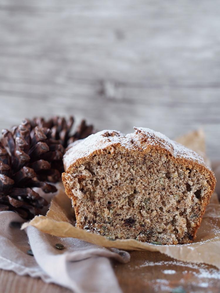 Kürbiskern-Kuchen mit Schokolade
