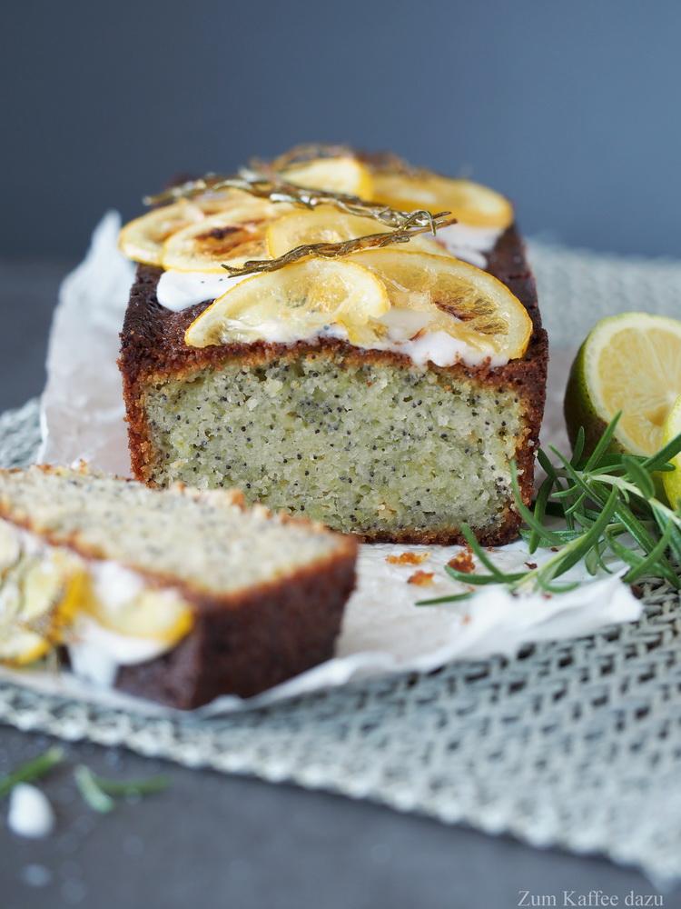 Zitronen-Rosmarin-Kuchen mit Mohn