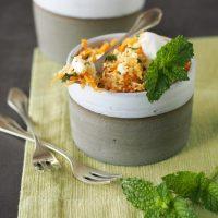 Couscous-Salat mit Feta, Karotte und Minze