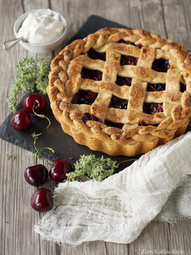 Kirsch-Pie mit Rotwein