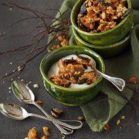 Knuspermüsli mit Aprikose und Kürbiskernen