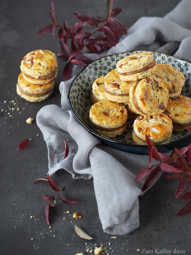 Mandel-Cookies mit Maronencreme