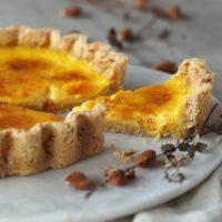 Karamellisierte Orangen-Tarte mit Safran