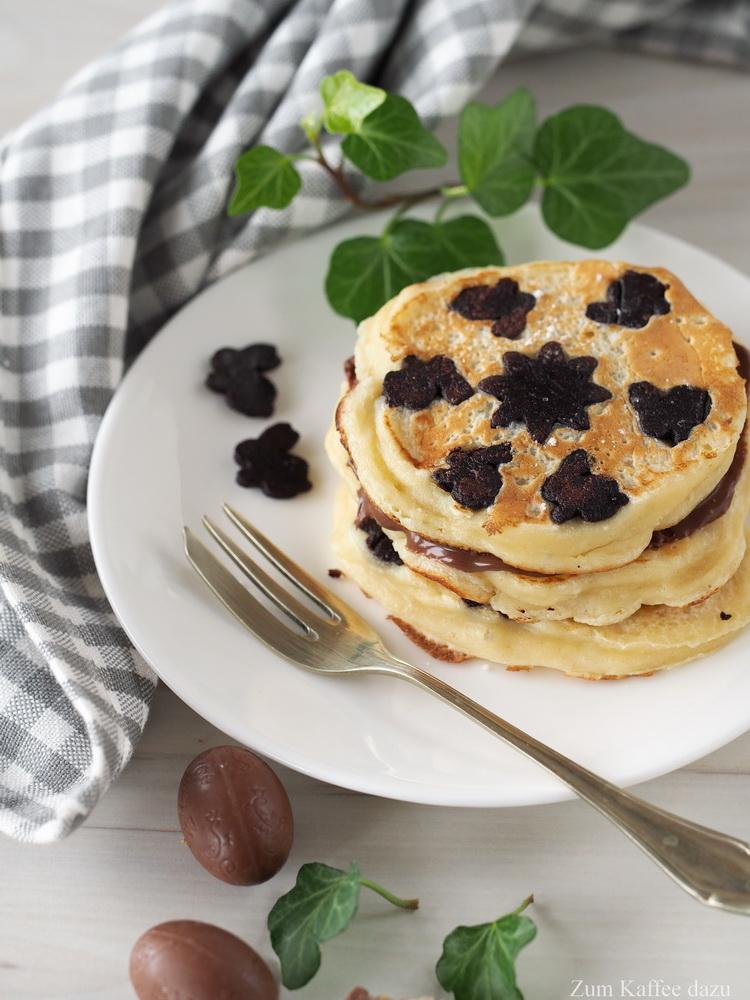Häschen-Pancakes mit Ostereiern