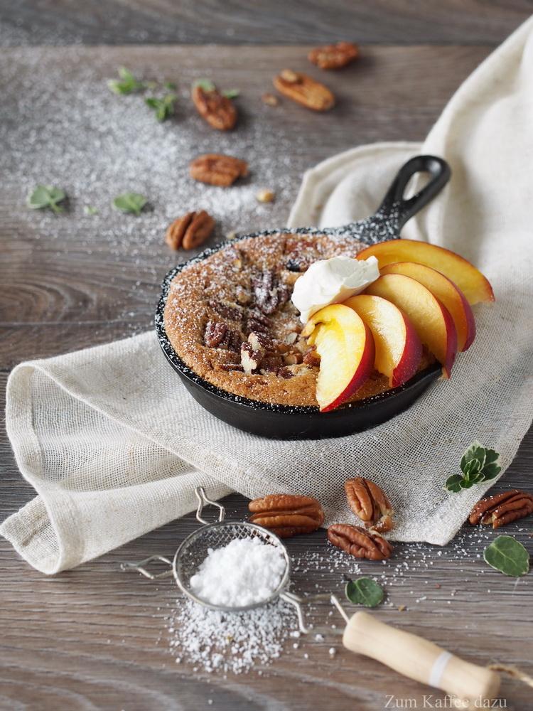 Pekannuss-Cookies mit Nektarine
