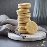 Shortbread mit Ricotta-Creme und Vanille