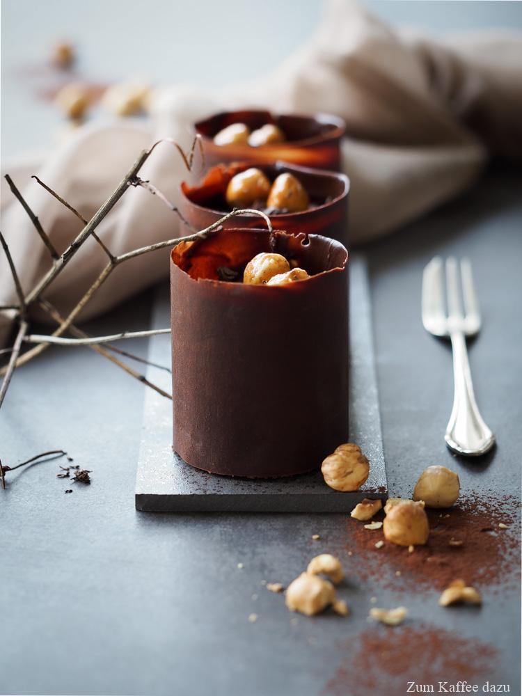 Schokoladentörtchen mit Haselnuss