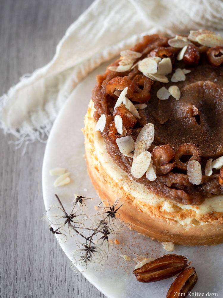 Cheesecake mit Dattelkaramell